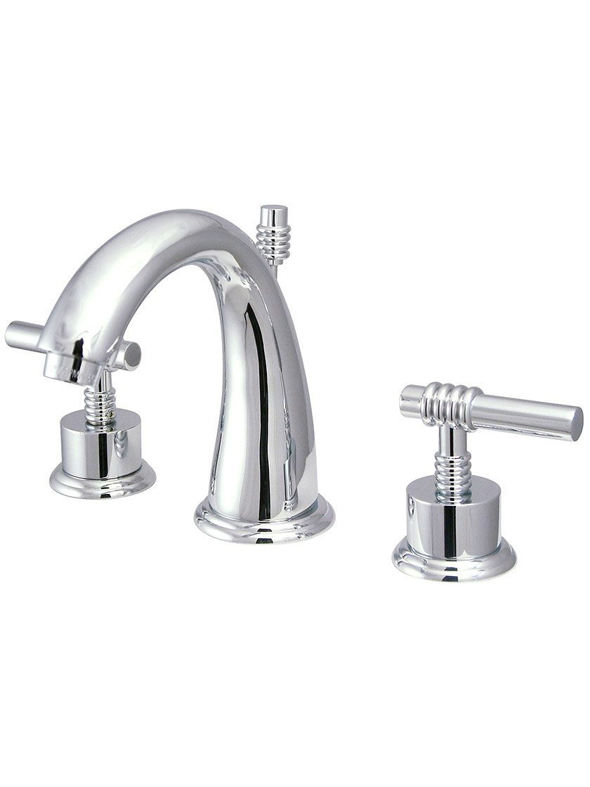 Sarasota Widespread Bathroom Faucet With Ringed Bauhaus Levers House Of Antique Hardware Widespread Bathroom Faucet Bathroom Faucets Sink Faucets [ 1120 x 840 Pixel ]