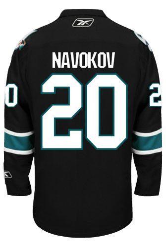 Vintage San Jose Sharks Evgeni Nabokov Third Alt Reebok Premier Replica  Adult NHL Hockey Jersey bf353a560