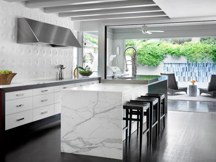 Weisse Marmor Kuchen 75 Ideen Fur Den Einsatz Von Marmor Kuchen Design Weisser Marmor Kuche Moderne Kuchenideen