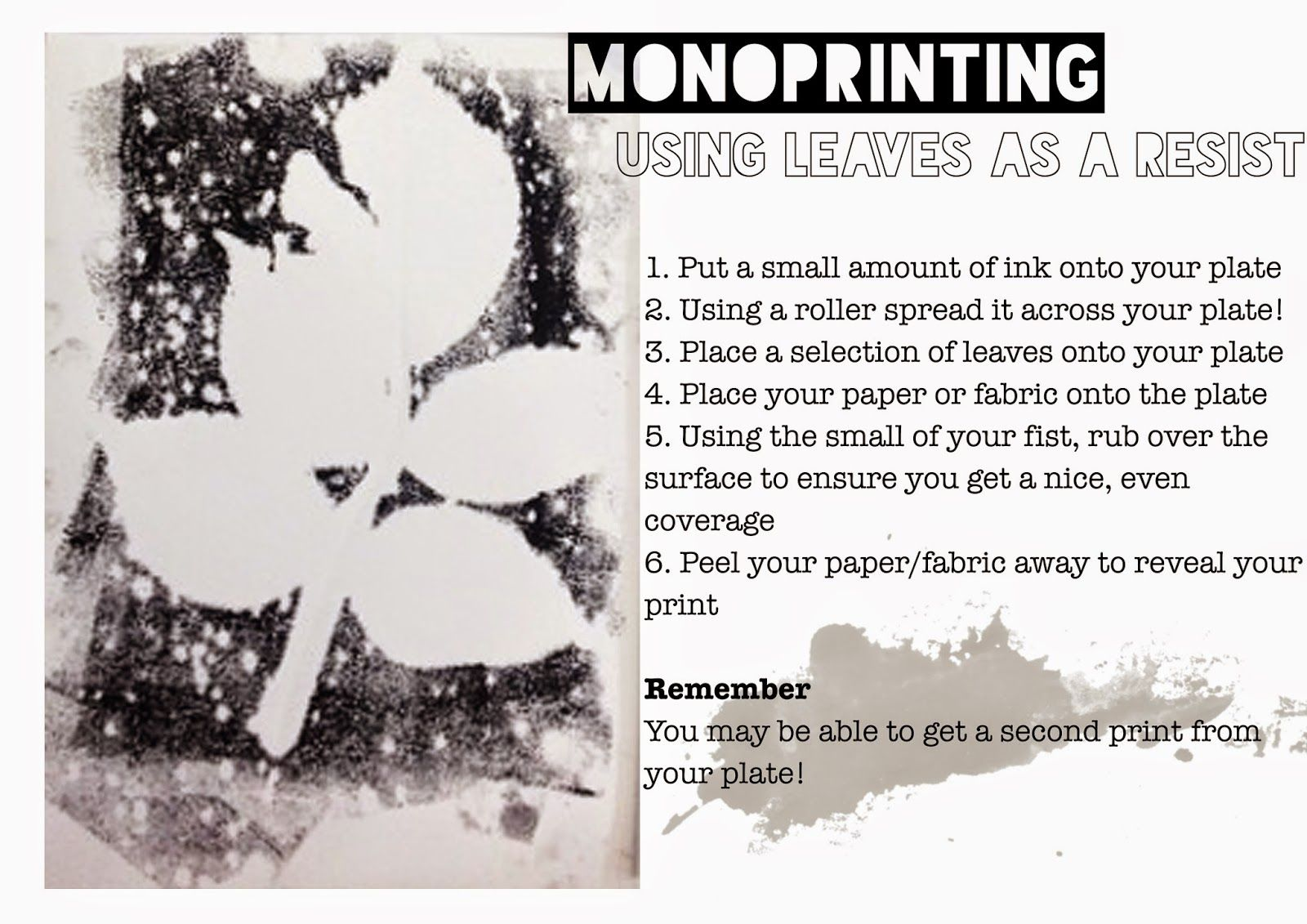 I Heart Teaching Art Lesson Idea Monoprinting