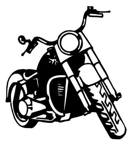 Harley Motorcycle Silhouettevector
