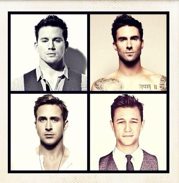 Men's hair styles. Channing Tatum. Adam Levine. Ryan Gosling. Joseph Gordon Levitt.
