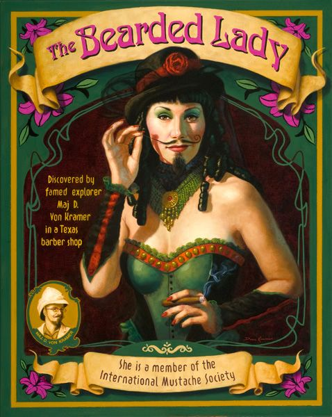 THE BEARDED LADY It's Gender Benders, SWITCH (the boys are girls, and the girls are boys) theme on June 20th 2015 at http://www.club-rub.com