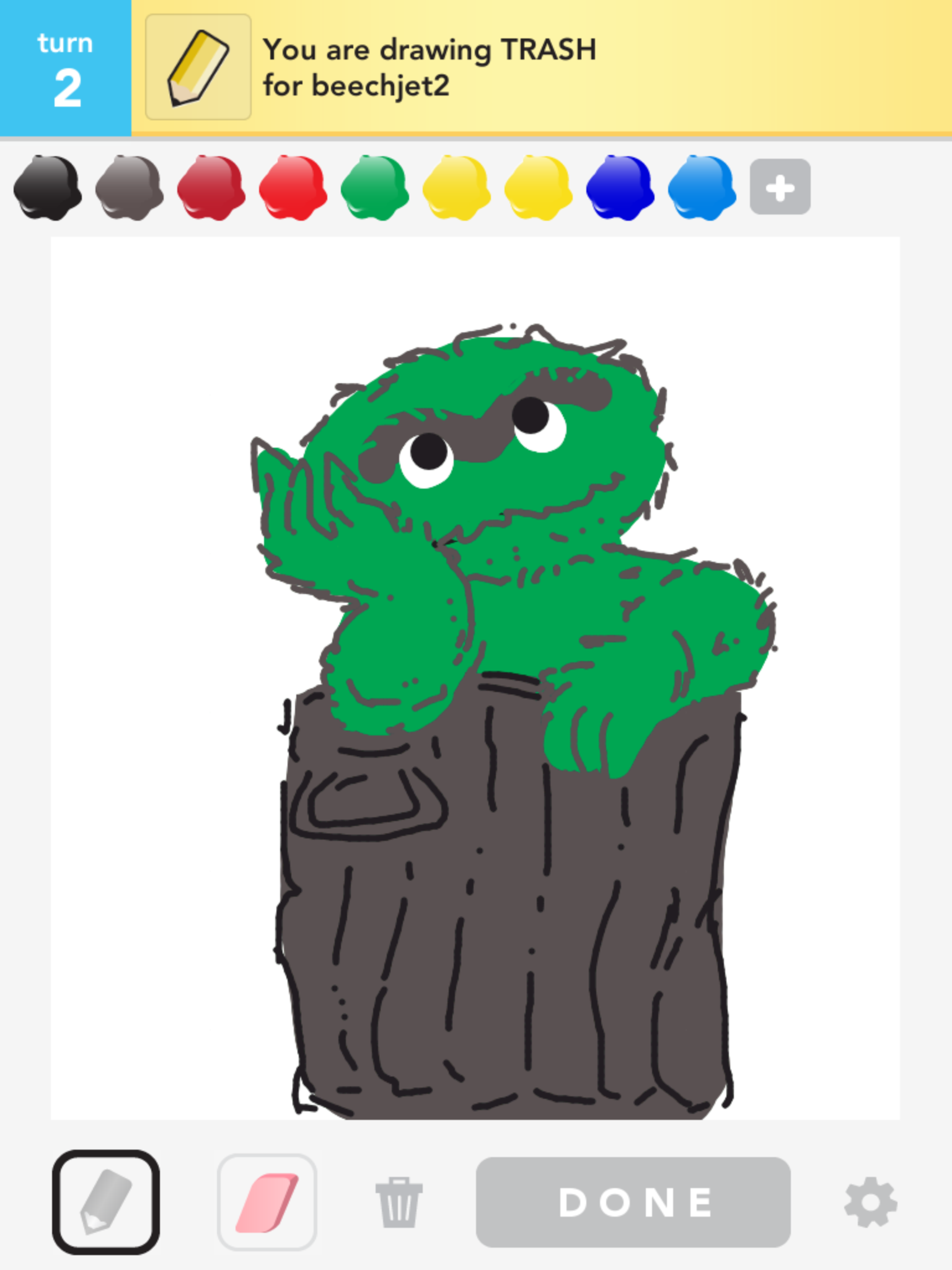 Oscar The Grouch On Draw Something Arts And Crafts Drawings