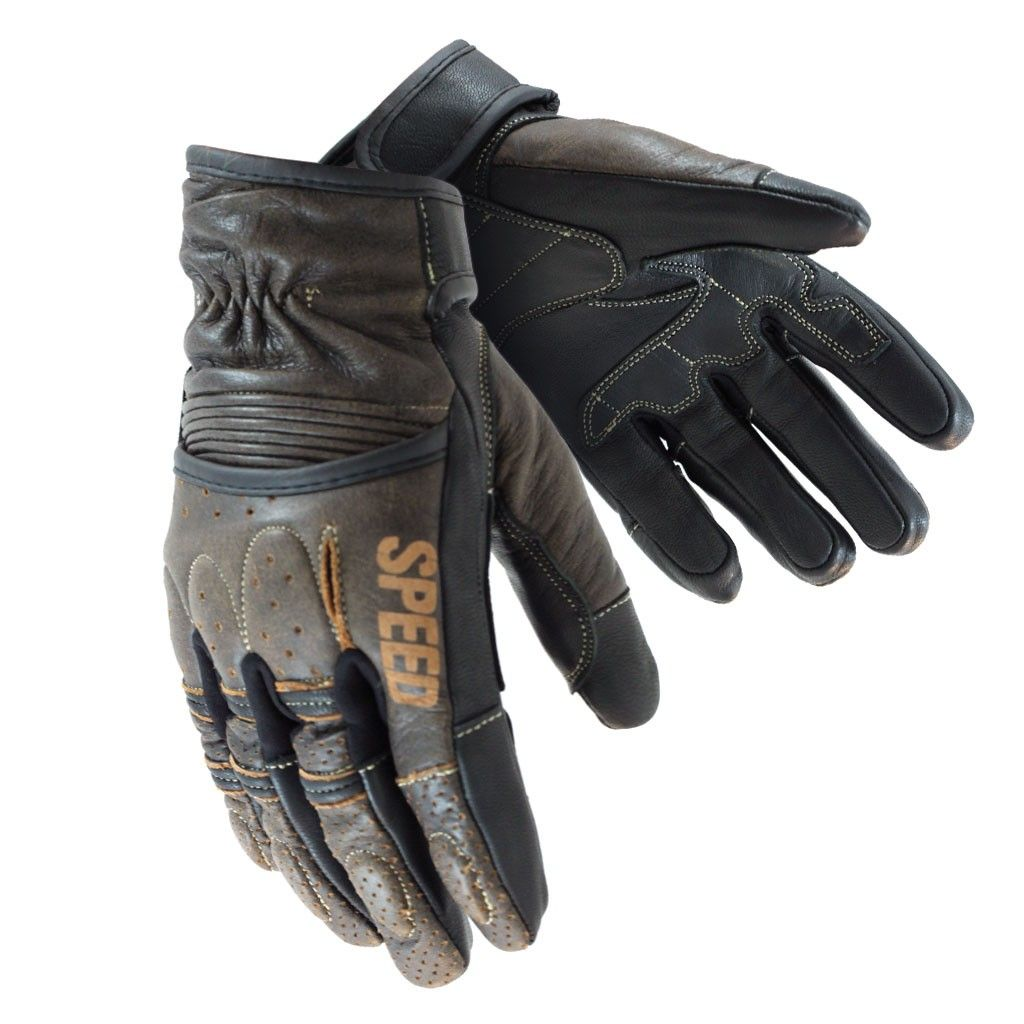 Motorcycle gloves dubai - Brown Speed Strength Rust And Redemption Leather Gloves