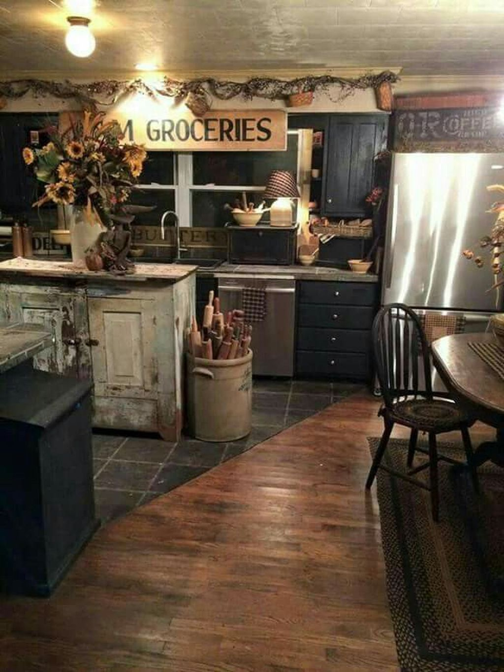 40 Inspiring Rustic Country Kitchen Ideas To Renew Your Ordinary Kitchen images