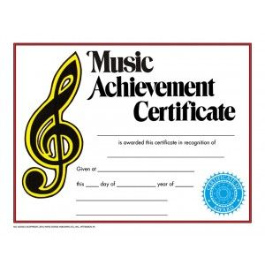 Music achievement certificate 30pack downloadable templates music achievement certificate 30pack downloadable templates available to personalize or can be handwritten yadclub Choice Image