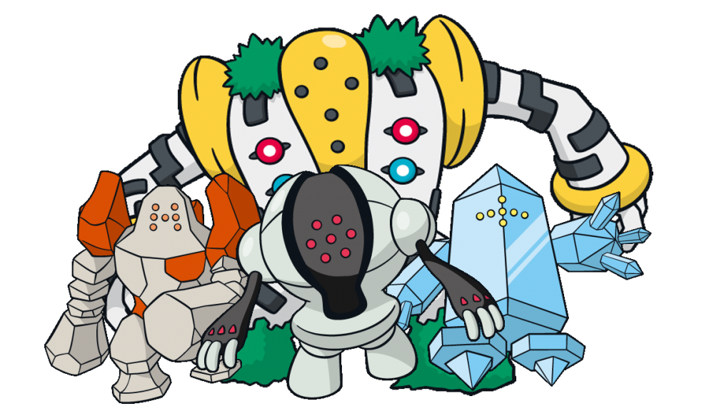 Regirock Registeel Regice Pokemon Images Pokemon New Pokemon