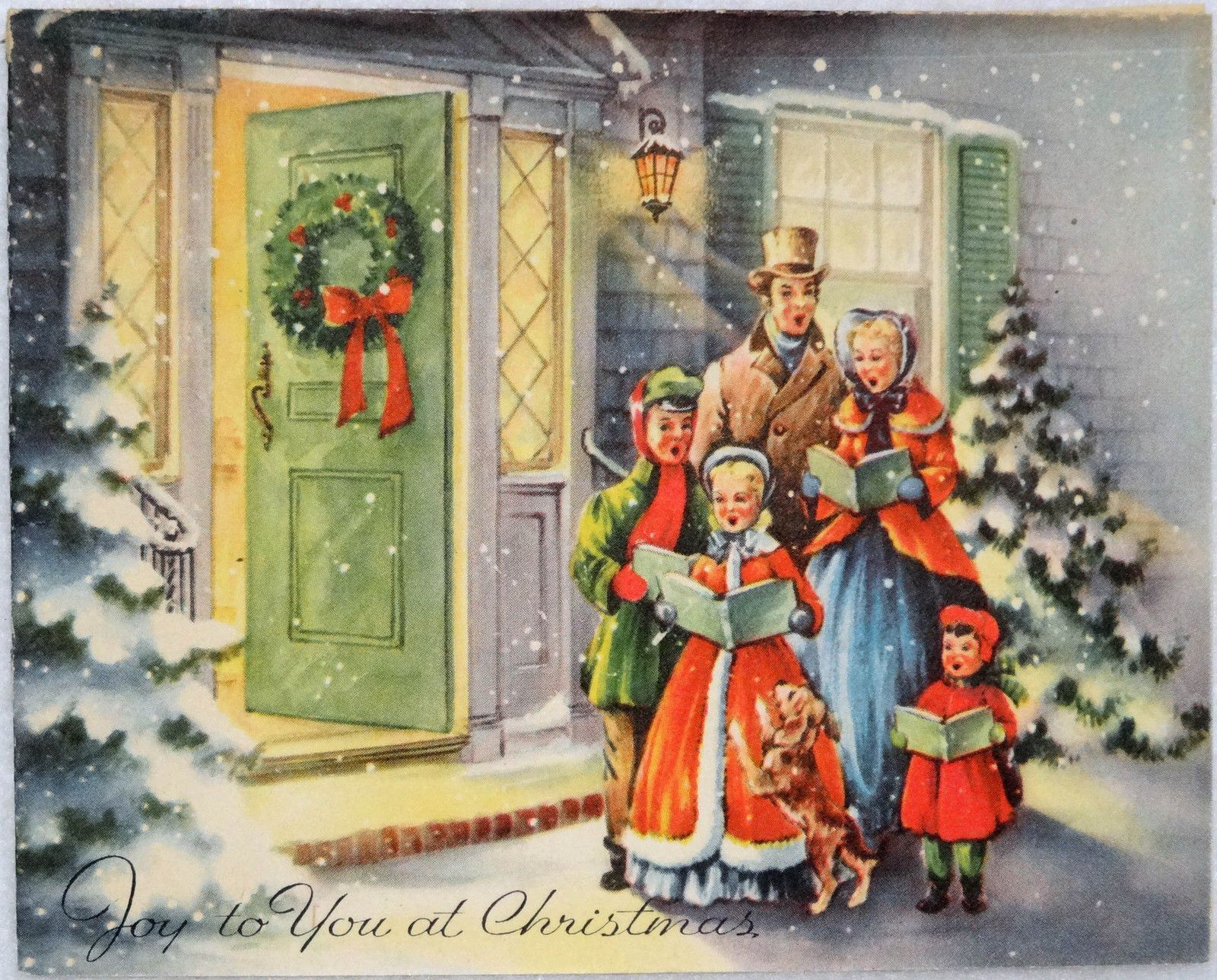 676 50s carolers at the front door vintage christmas greeting card 676 50s carolers at the front door vintage christmas greeting card ebay kristyandbryce Choice Image