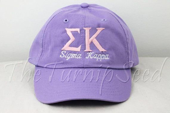 Sigma Kappa Sorority Baseball Cap Custom Color Hat And Etsy Sigma Kappa Sigma Kappa Sorority Sorority Designs