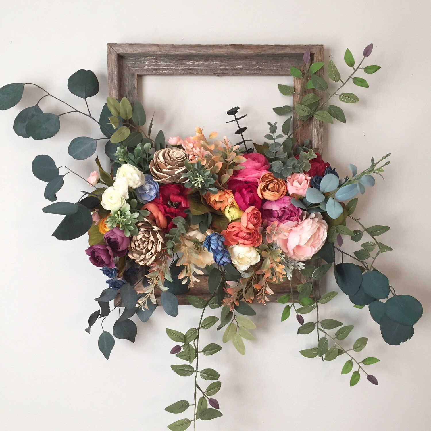 Wall Hanging, Floral Wall Art, Large Wall Hanging, Floral Design Wall Art,