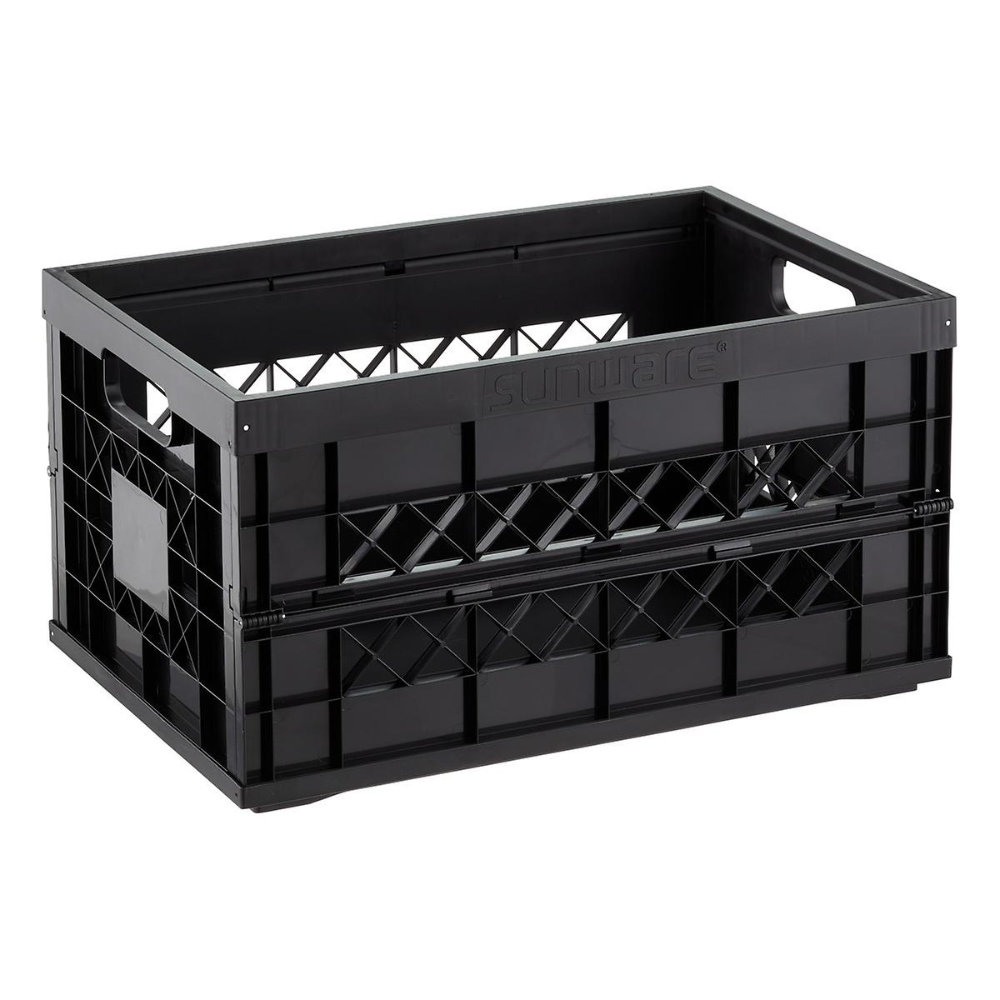 Heavy Duty Collapsible Crate In 2020 Crates Container Store Integrated Handles