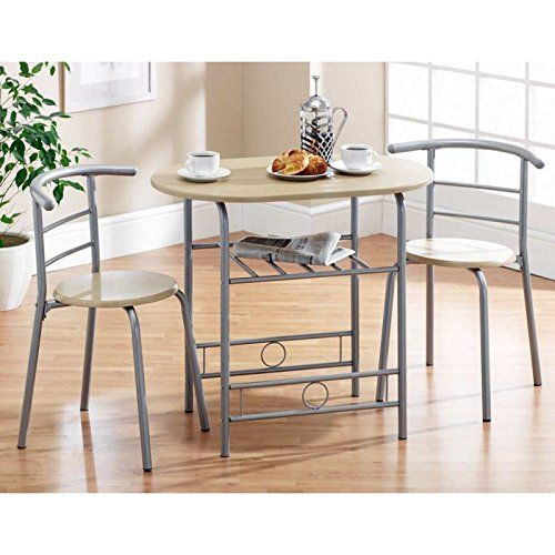 Krasavic 3 PCs Dining Storage Table Set with Two Kithcen Ladder Back Chairs Beech/  sc 1 st  Pinterest & Krasavic 3 PCs Dining Storage Table Set with Two Kithcen Ladder ...