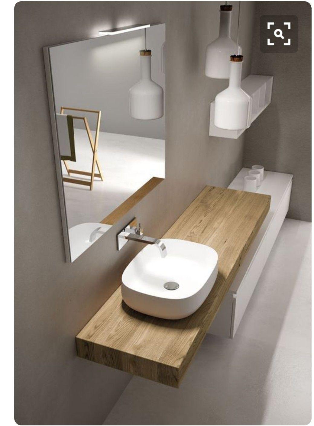 Badezimmerspiegel mit Leuchte und AluVollverblendung