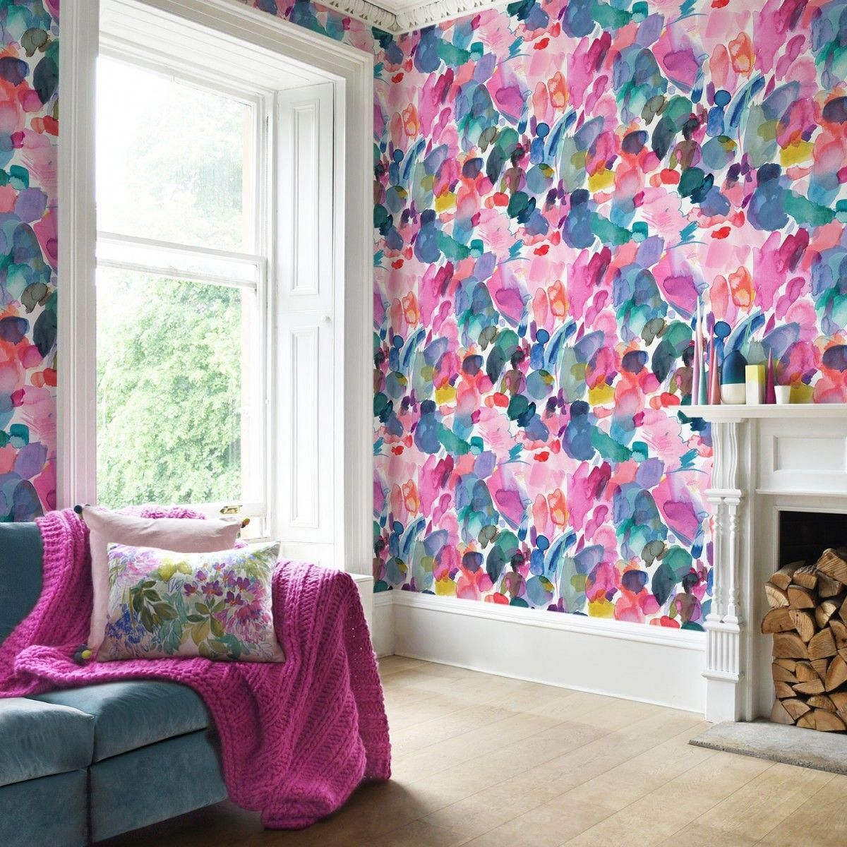 Floral Wallpapershaokhome Dr3073 Non Woven Vintage Flower
