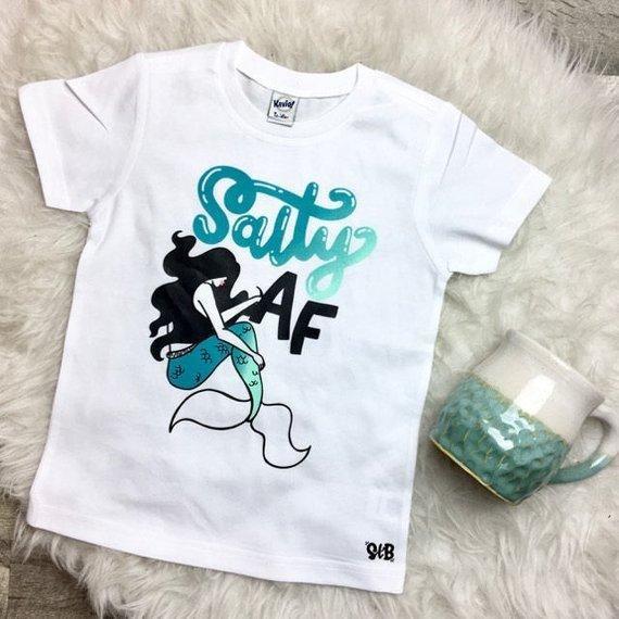 ffd3fbfb Salty AF Kids Bodysuit or Tee | Vinyl ideas | Toddler fashion, Kids ...