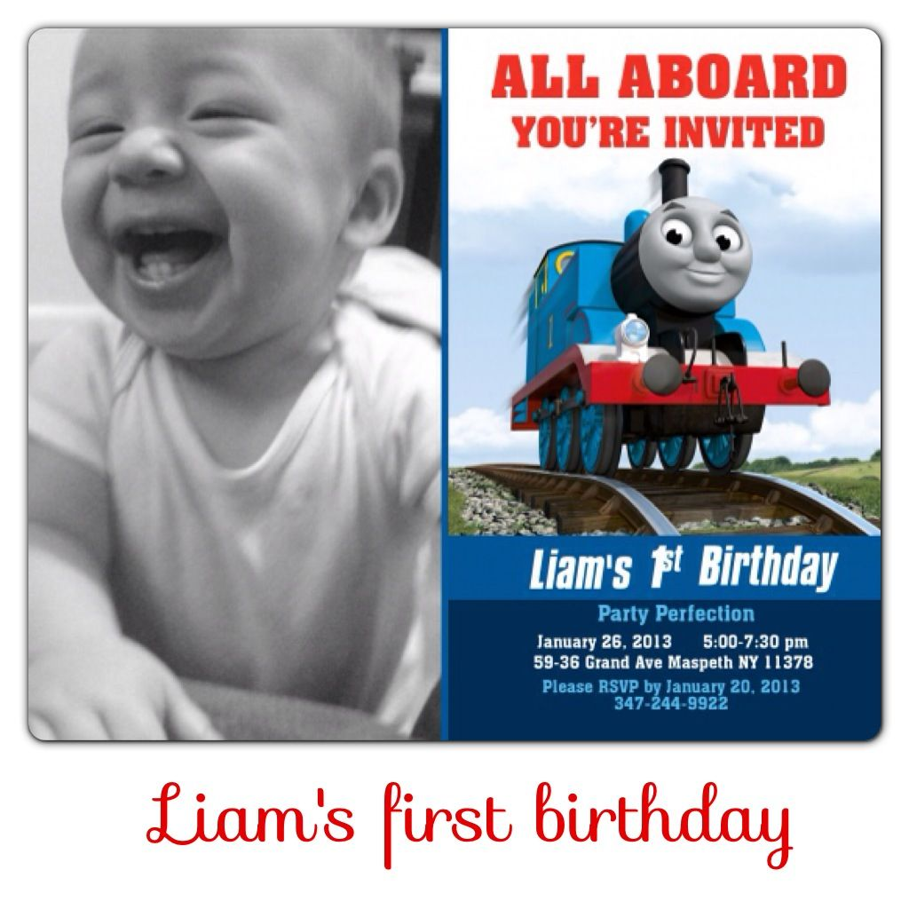 Liam\'s first birthday invitation Thomas and friends, Thomas the ...