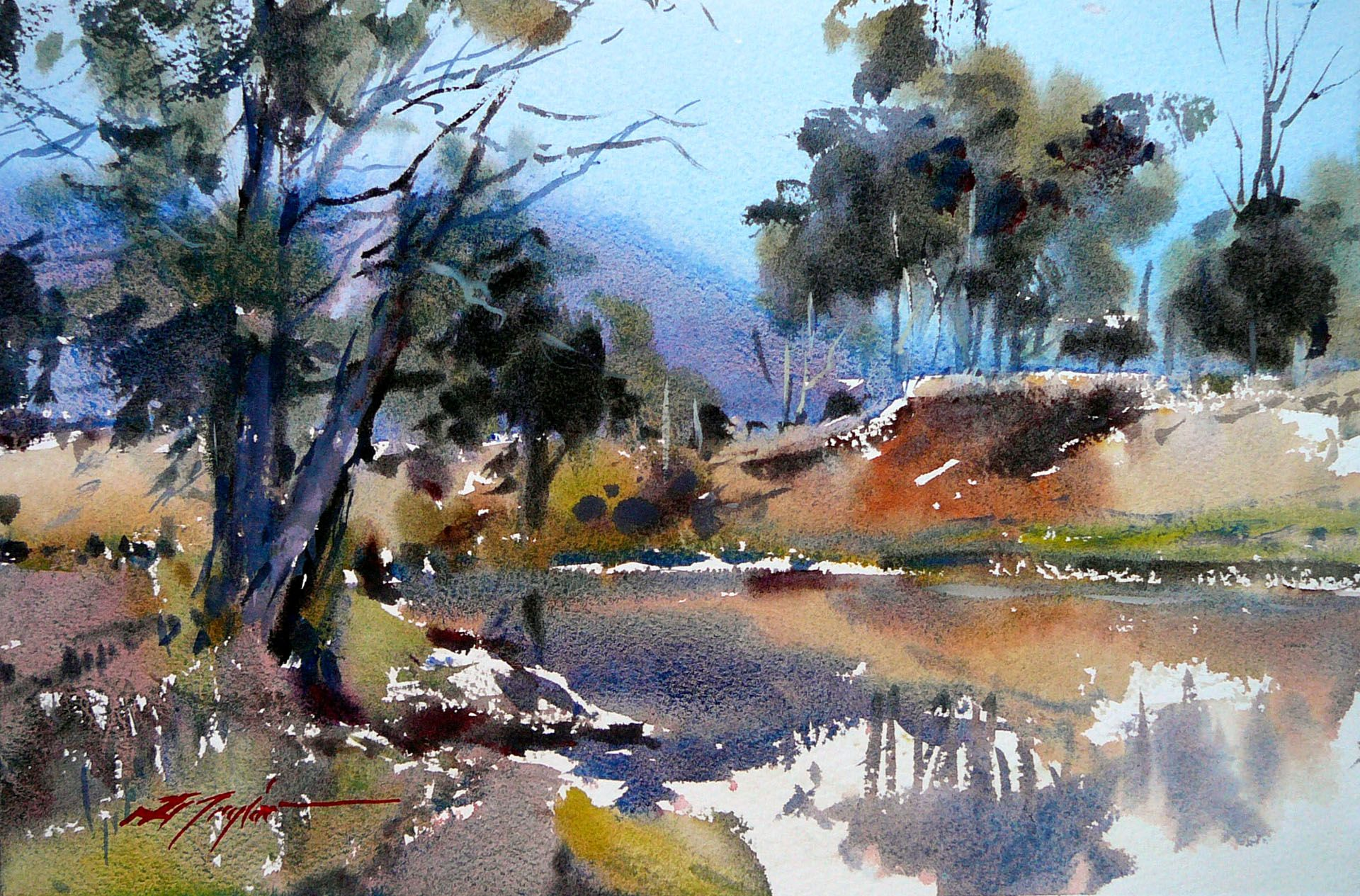 David Taylor Generous And Witty International Watercolor