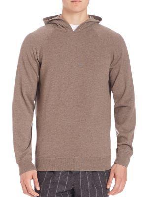 BRUNELLO CUCINELLI Long Sleeve Cashmere Hoodie. #brunellocucinelli #cloth #hoodie