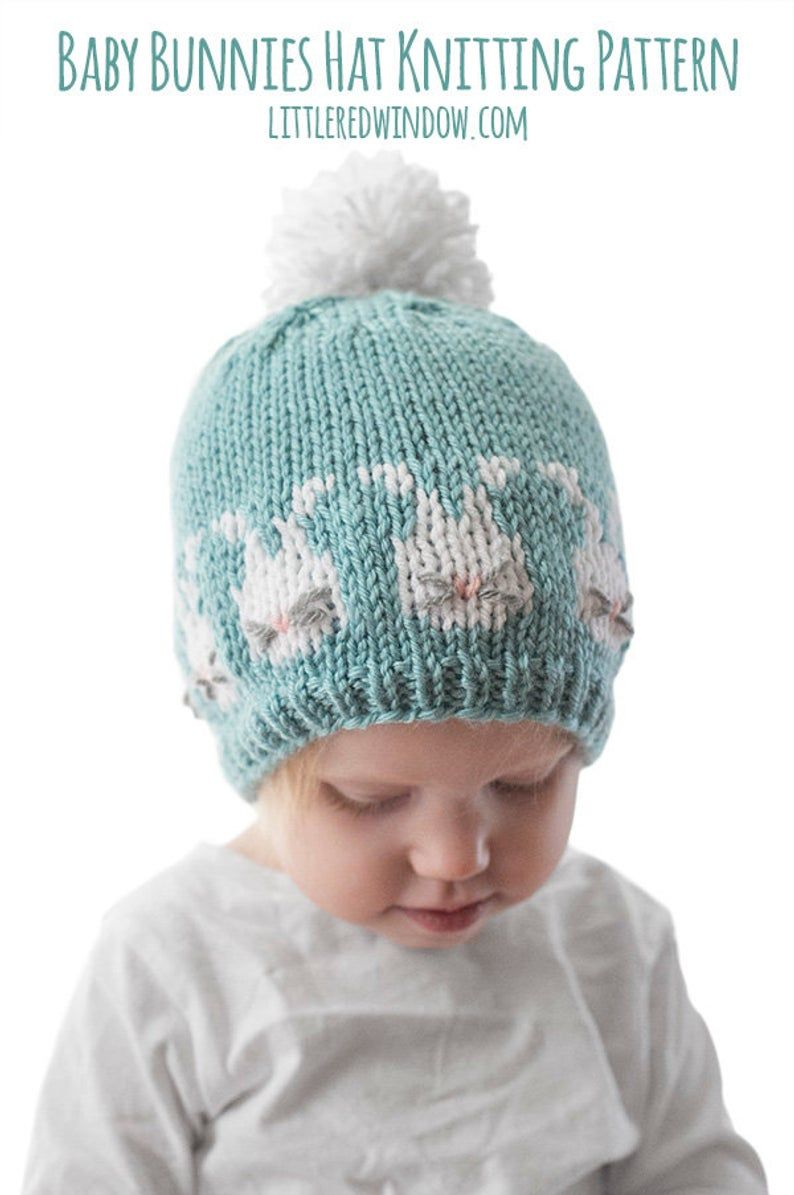 Easter Bunnies Hat Knitting Pattern Bunny Hat Pattern Baby Etsy In 2020 Hat Knitting Patterns Baby Hat Knitting Pattern Crochet Patterns Baby Boy