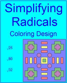 Radicals: simplifying simple radicals # 2 coloring activity ...