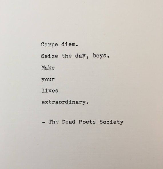 Dead Poets Society quote typed on typewriter - typewriter