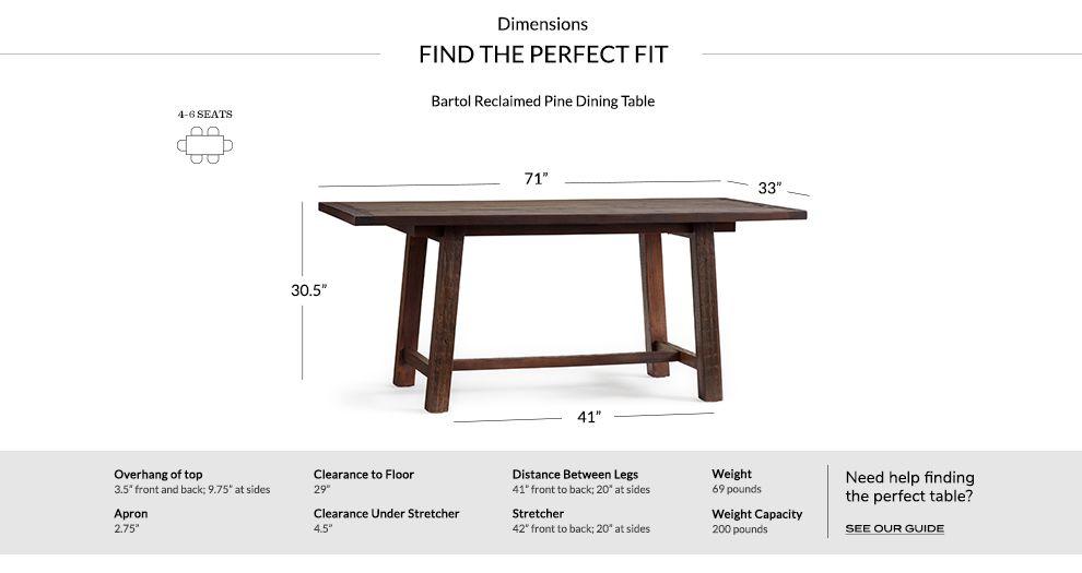 Bartol Reclaimed Wood Dining Table Reclaimed Dining Table Reclaimed Wood Dining Table Pine Dining Table