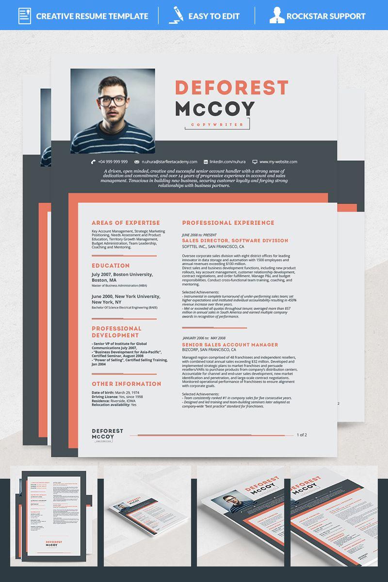 Kraz Resume Template 69170 Creative resume templates
