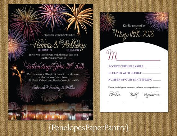 elegant 4th of july wedding invitation july 4th firework bursts
