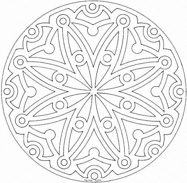 Mandala Per Bambini Da Stampare E Colorare Disegni Di Mandala Da