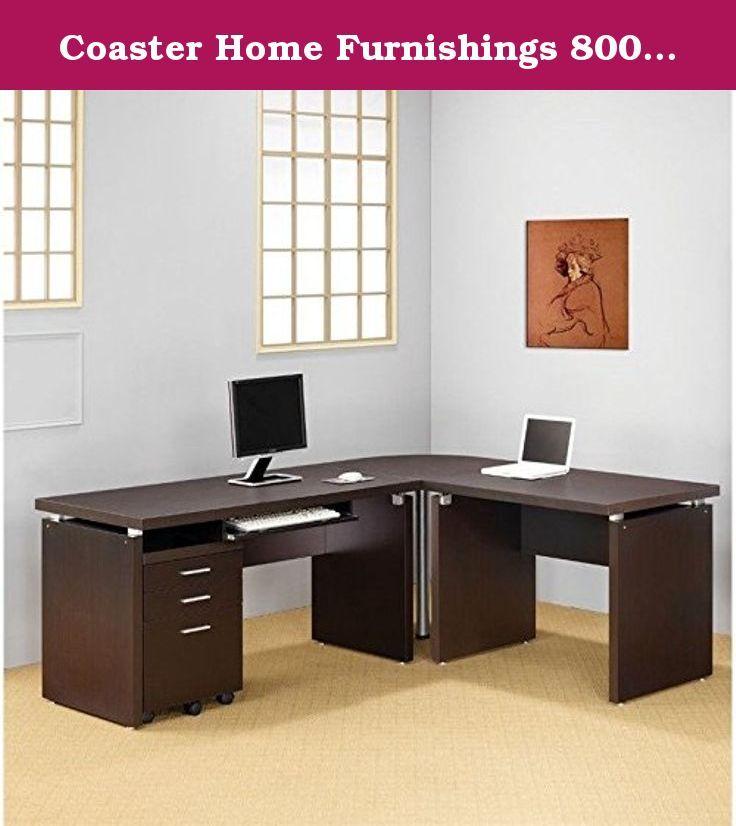Coaster Home Furnishings 800892 Contemporary Desk, Cappuccino ...