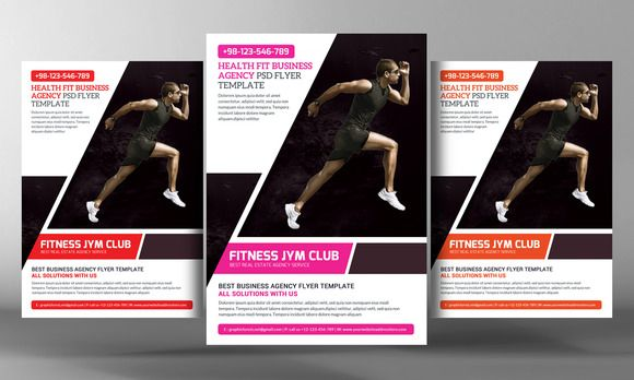 Fitness Gym Flyer Template By Business Templates On