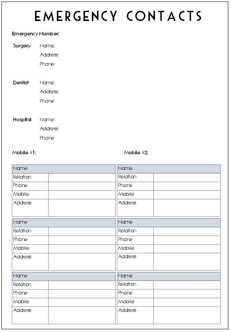 26 images of printable contact list template with notes leseriail com