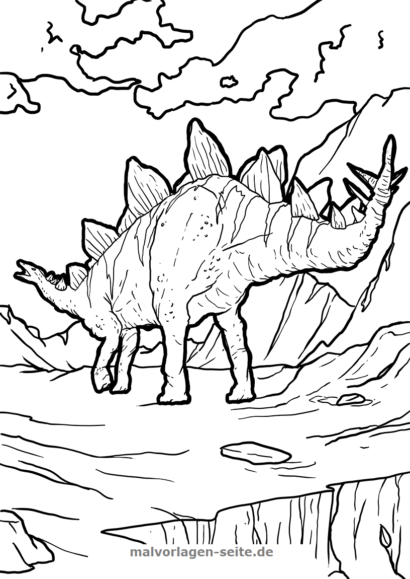 Ausmalbilder Dinosaurier  Malvorlage dinosaurier, Malvorlagen
