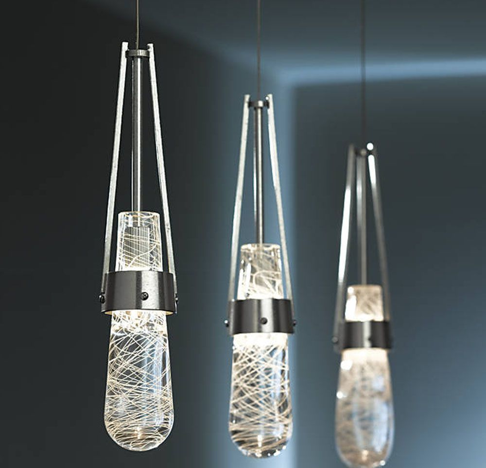 Ball Led Pendant Bubble Glass Pendant Light Crystal Glass