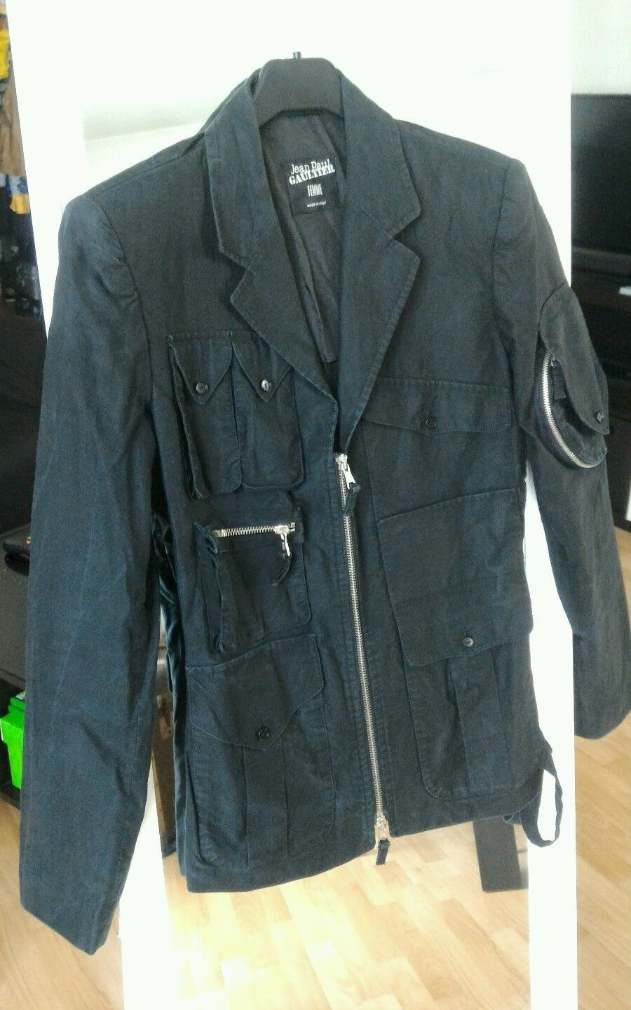 Gaultier En 36 Coton Mode Paul Noire Veste Femme Jean Taille 4X85wTxqT