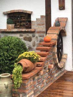 Idee Von Tina H Auf Steine Und Beton Steinmauer Garten Vorgarten Gartenmauern