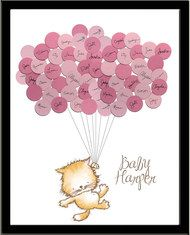 Baby Shower Sign In Guest Book Print Kitty
