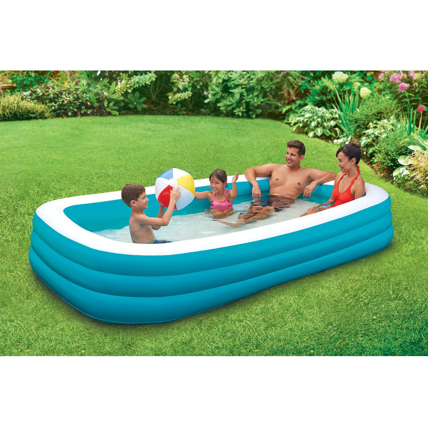 "Walmart Play Day 120"" Deluxe Family Pool ly $24 45"