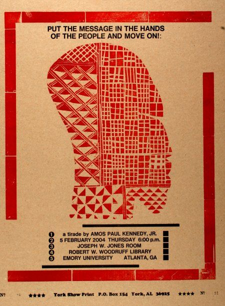 Kennedy Prints: Letterpress poster: Tirade Announcement