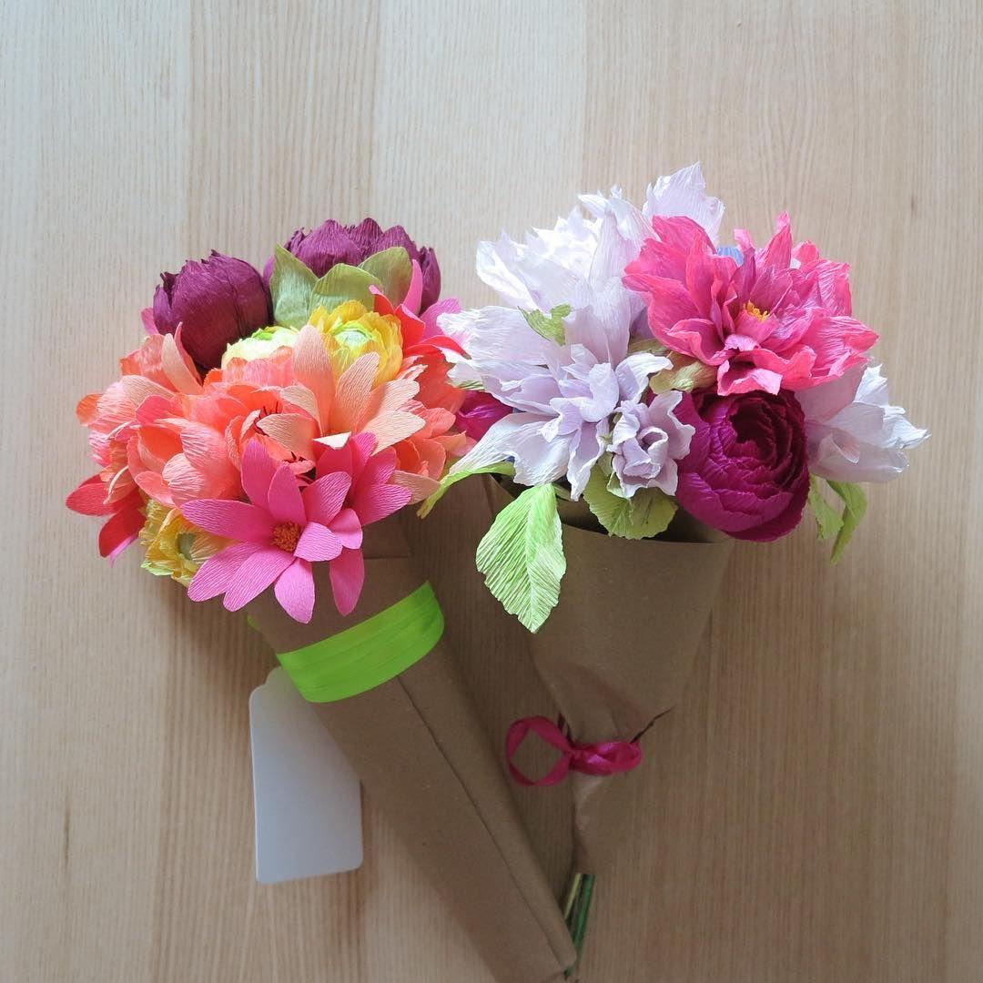 Feliz lunes! #floresdepapel #crepepaperflowers #bouquet ...