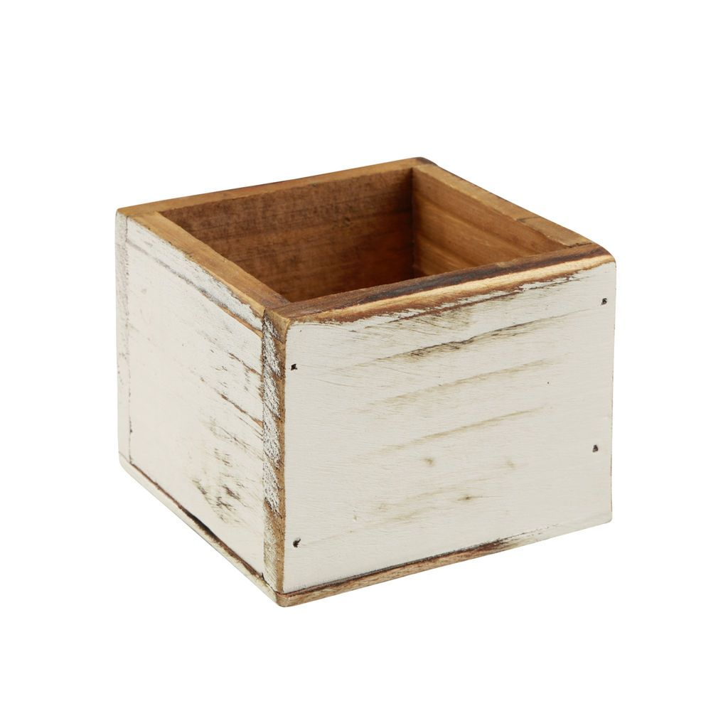Purchase The Square Whitewashed Wood Box By Artminds At Michaels Make A Personalized Storage Bin For Beads Or Small Craft Supplies Using This