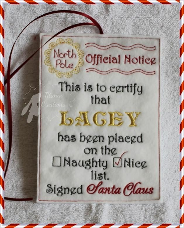 Ith Official Notice Scroll From Santa Naughty Or Nice List 5x7 Or