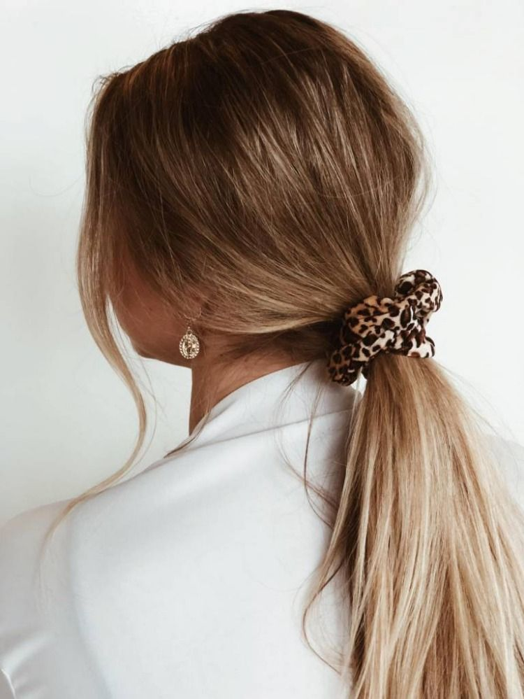Scrunchies for the win! #scrunchie #hairstyle #leopard #hair #hairscrunchie