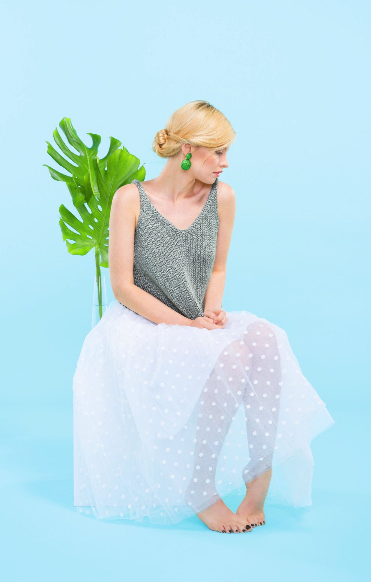 Photo of Easy Basic Tank-Top – free knitting instructions