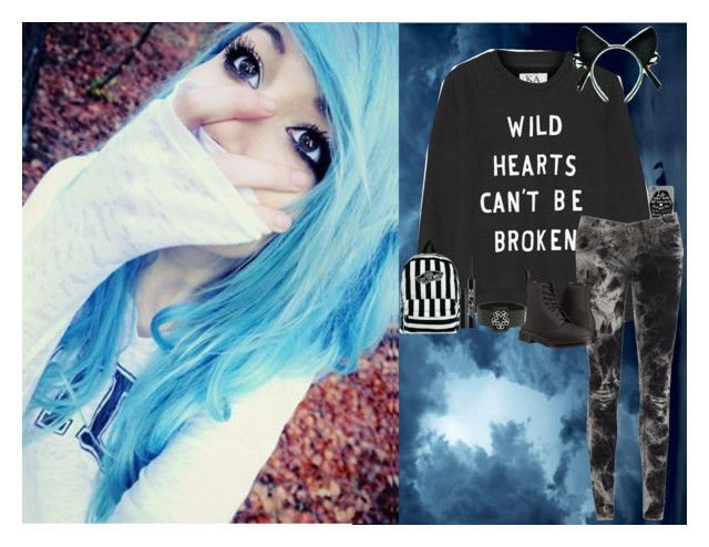 """""""Blue Girl In a Blue World"""" by corruptedcolours ❤ liked on Polyvore featuring Zoe Karssen, AX Paris, Dr. Martens, Urban Decay and Vans"""
