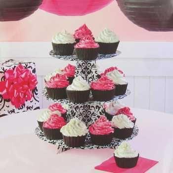 Black White Damask Cupcake Stand 3 Tier Cupcake Stand White Damask Cupcake Tier