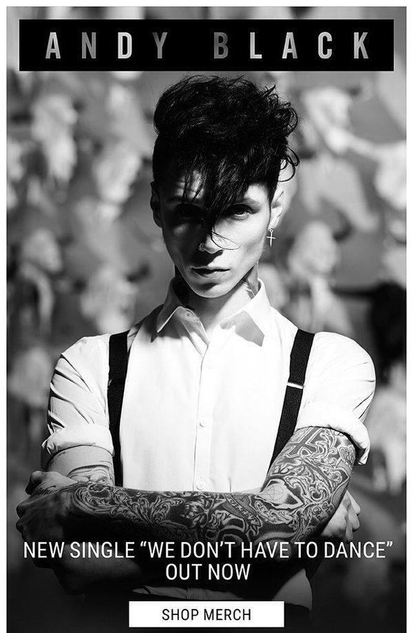ANNNDDDDDYYYY is so hot in this pic! Andy Black #WDHTD