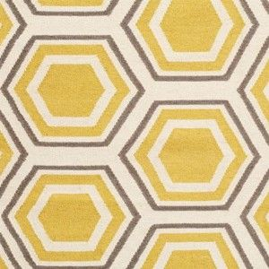 Yellow Grey And White Bathroom Rugs