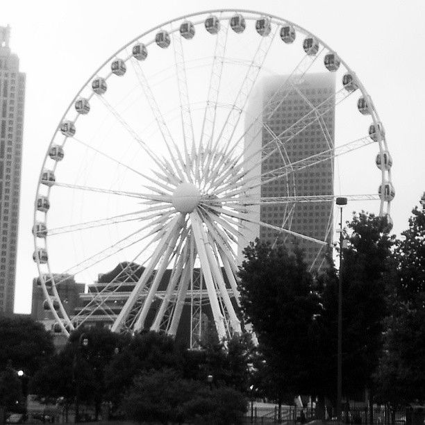 Located at the South end of Centennial Park in downtown Atlanta, the  SkyView Ferris wheel is set up to thrill families from all over the Atlanta  Metro area.